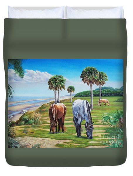 Beach Combers Duvet Cover