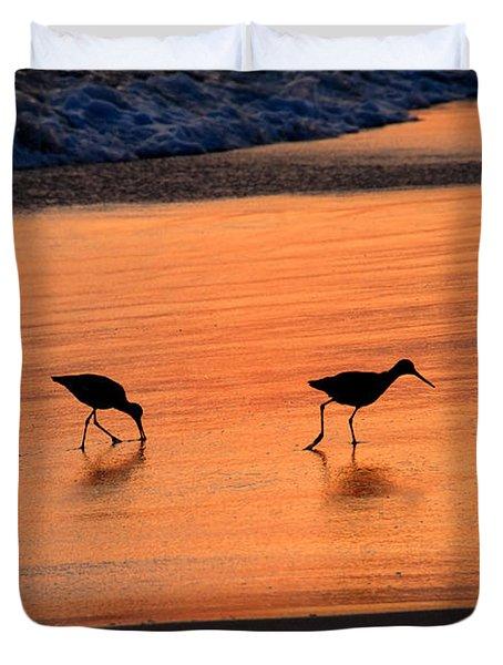 Beach Couple Duvet Cover by David Lee Thompson
