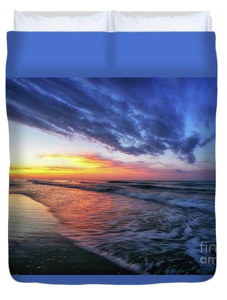 Beach Cove Sunrise Duvet Cover