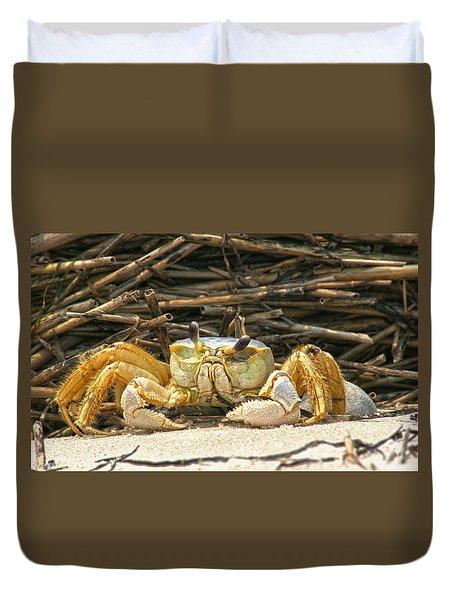 Beach Crab Duvet Cover