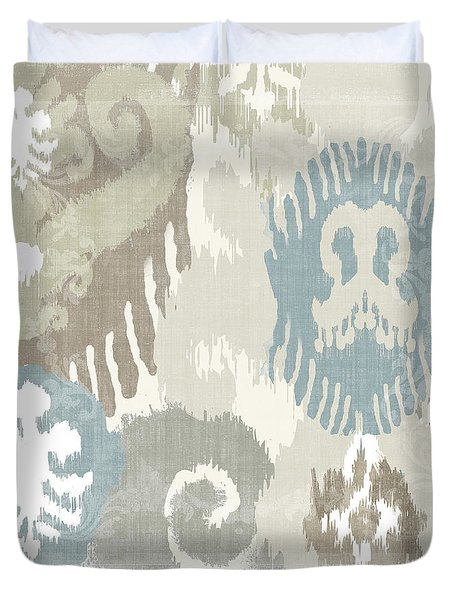 Beach Curry I Ikat Duvet Cover