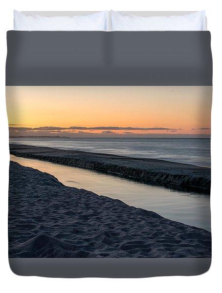 Beach Diagonals Duvet Cover by Martin Capek