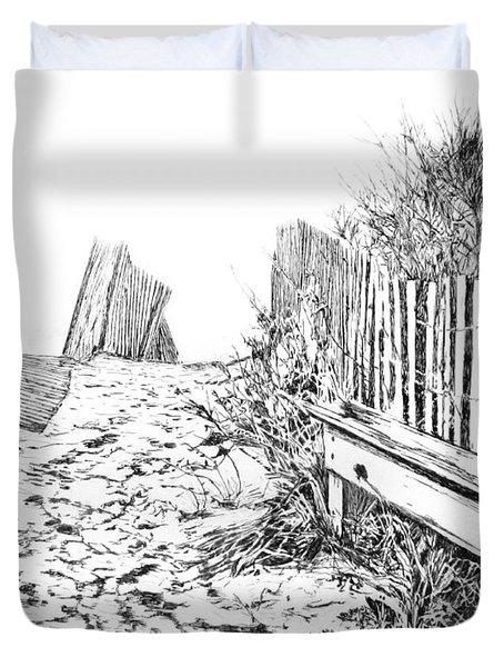 Beach Entrance Duvet Cover