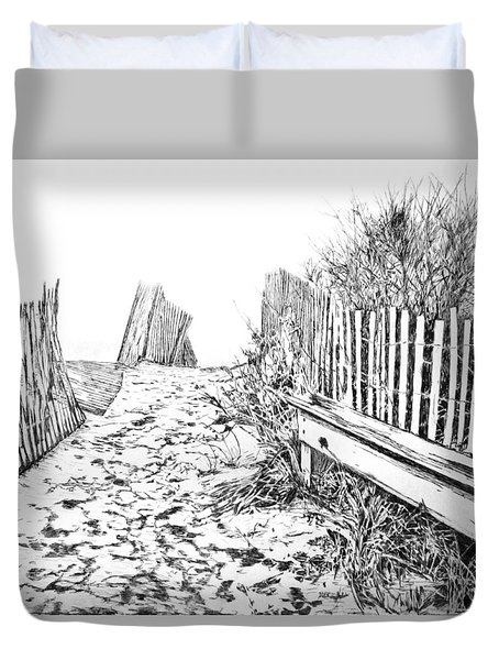 Beach Entrance Duvet Cover