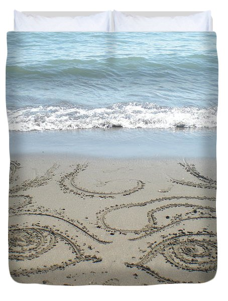 Beach Eyes Duvet Cover