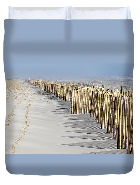 Beach Fence Shirley New York Duvet Cover
