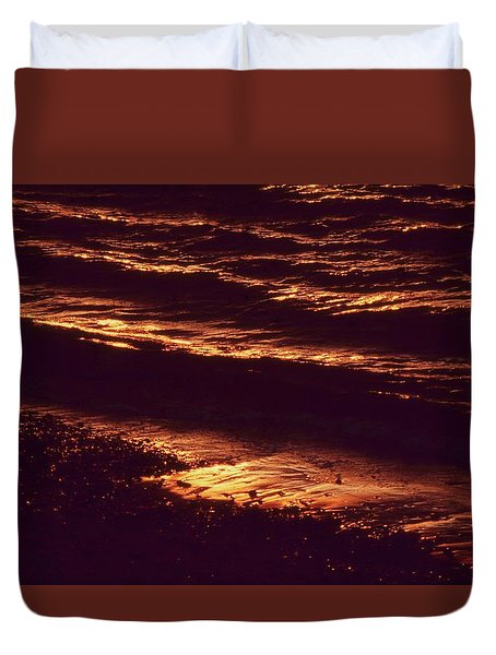 Beach Fire Duvet Cover