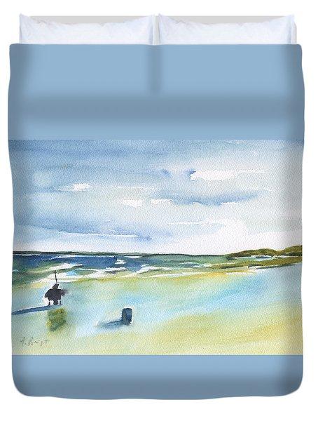 Beach Fishing Duvet Cover