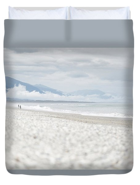 Beach For Two Duvet Cover