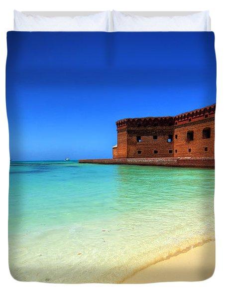 Beach Fort. Duvet Cover