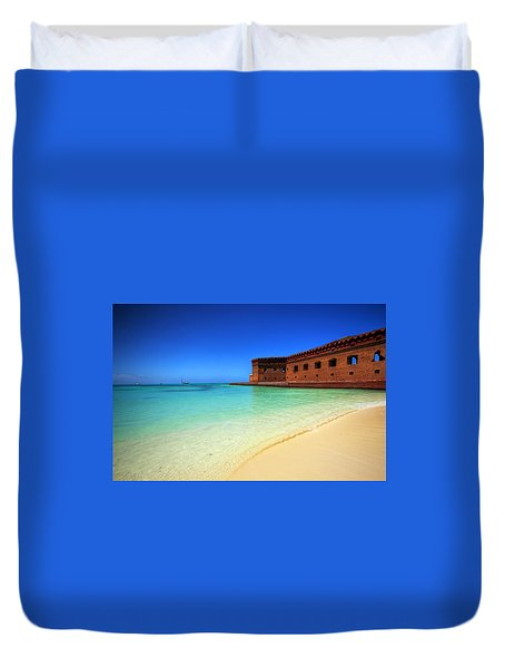 Beach Fort. Duvet Cover