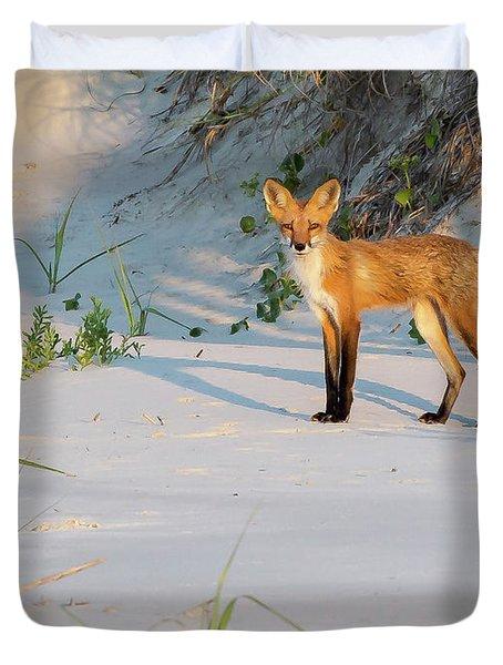 Beach Fox #3 Duvet Cover