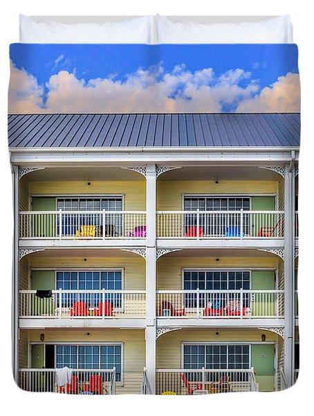 Beach Front Hotel Duvet Cover