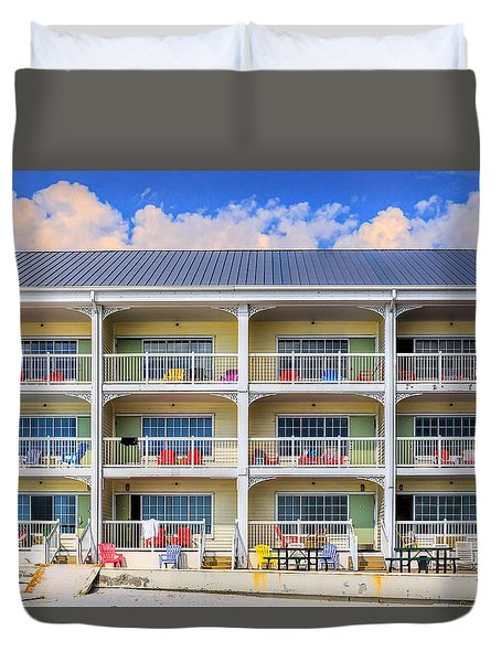 Beach Front Hotel Duvet Cover
