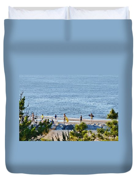Beach Fun At Cape Henlopen Duvet Cover