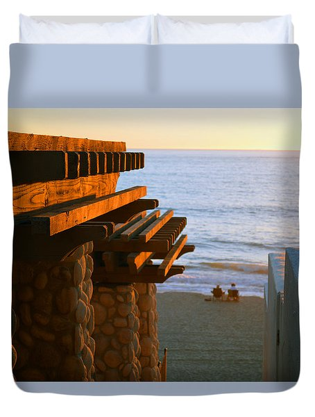 Beach Gateway Duvet Cover