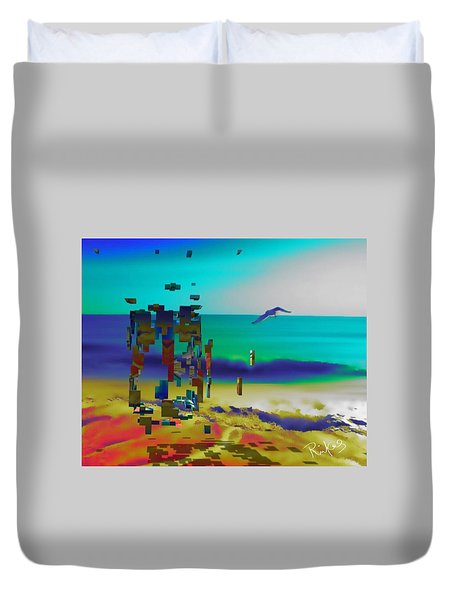Beach Geometry  Duvet Cover