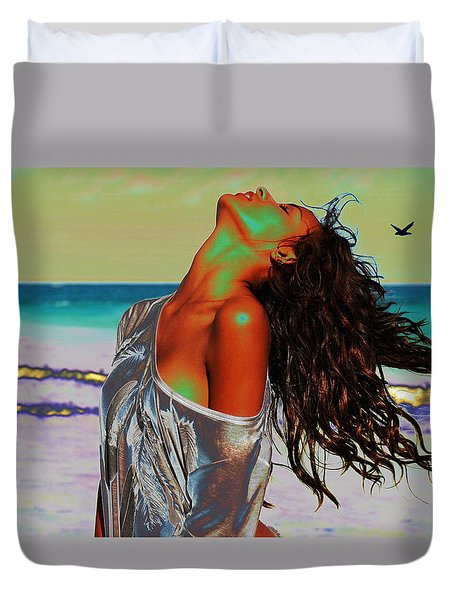 Beach Girl 1 Duvet Cover