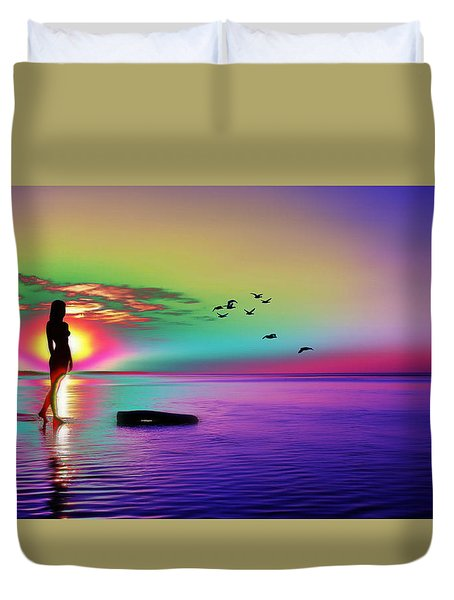 Beach Girl 3 Duvet Cover