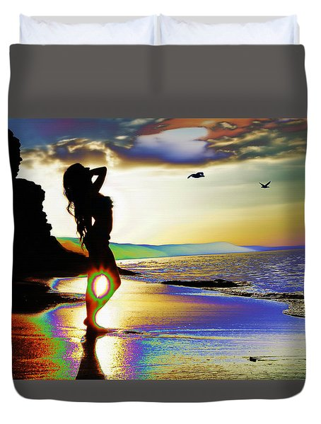 Beach Girl 4 Duvet Cover