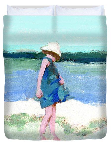 Beach Girl Duvet Cover