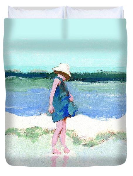 Beach Girl Duvet Cover by J Reifsnyder