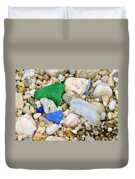 Beach Glass Duvet Cover