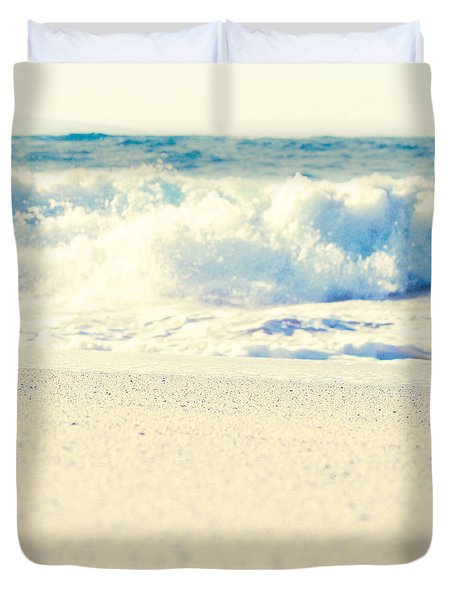 Duvet Cover featuring the photograph Beach Gold by Sharon Mau