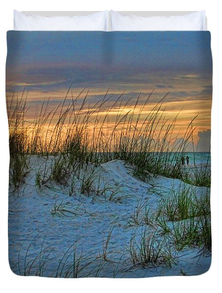 Beach Grass And Sand Dunes Duvet Cover