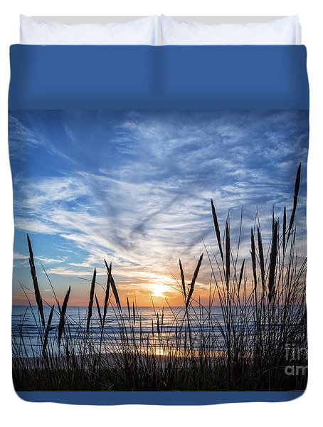 Beach Grass Duvet Cover by Delphimages Photo Creations