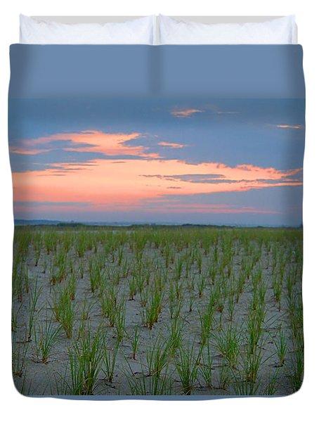 Duvet Cover featuring the photograph Beach Grass Farm by  Newwwman