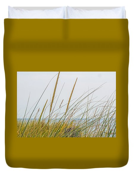 Duvet Cover featuring the photograph Beach Grass by Kendall McKernon