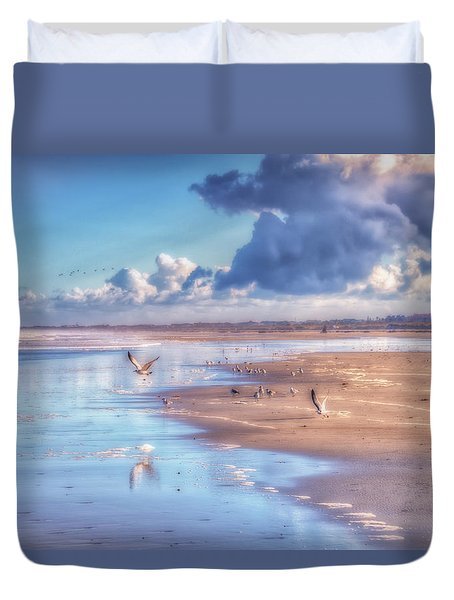 Beach Gulls Duvet Cover