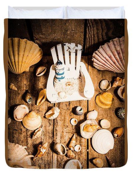 Beach House Artwork Duvet Cover