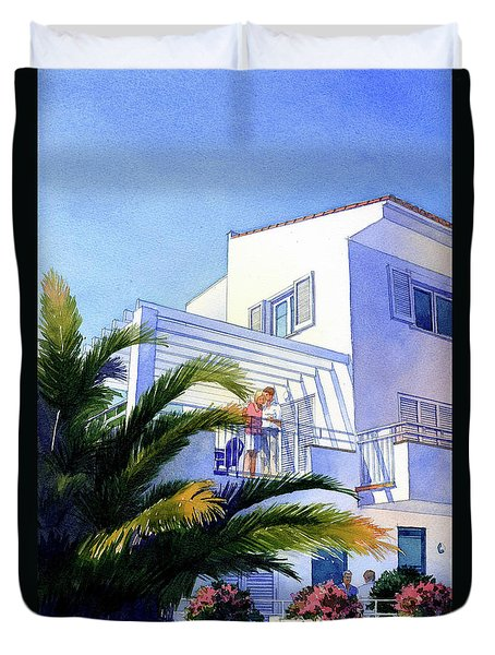Beach House At Figueres Duvet Cover