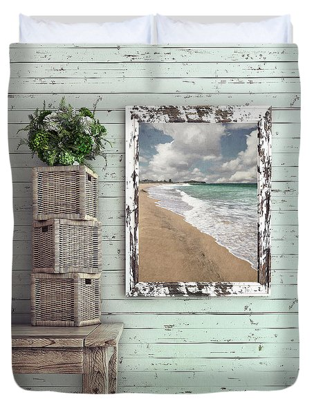 Duvet Cover featuring the photograph Beach House By Kaye Menner by Kaye Menner