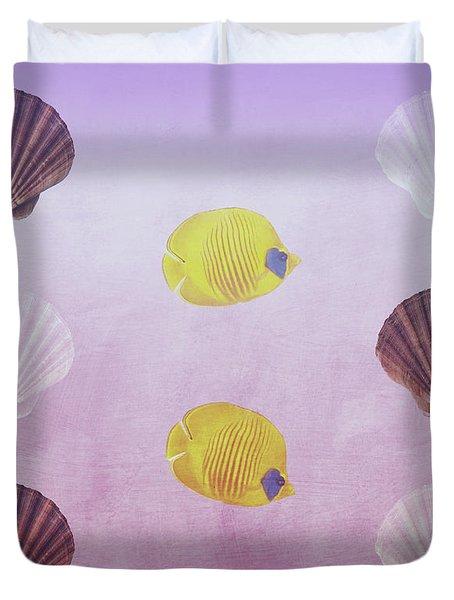 Beach House Design Duvet Cover
