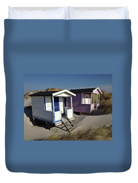 Beach Houses At Skanor Duvet Cover