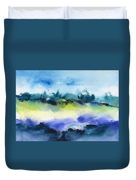 Beach Hut Abstract Duvet Cover