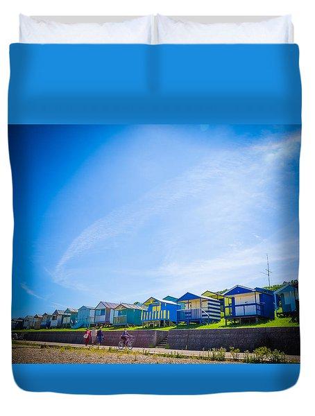 Beach Huts 2 Duvet Cover