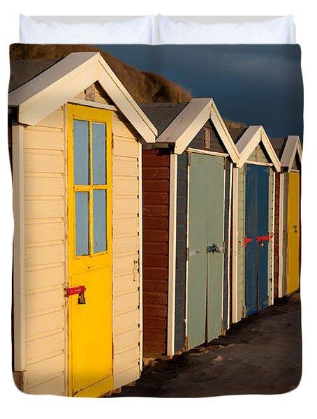 Beach Huts II Duvet Cover