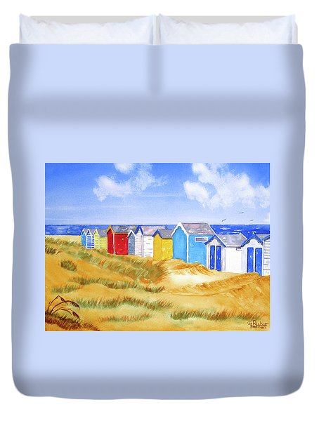 Beach Huts Duvet Cover