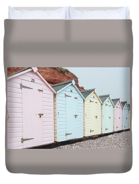 Beach Huts Vi Duvet Cover