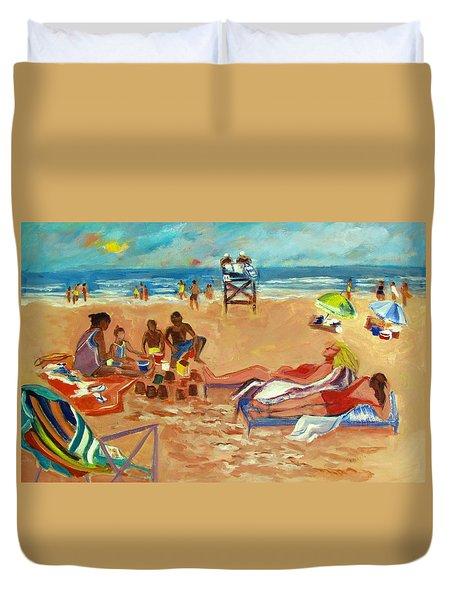 Beach In August Duvet Cover