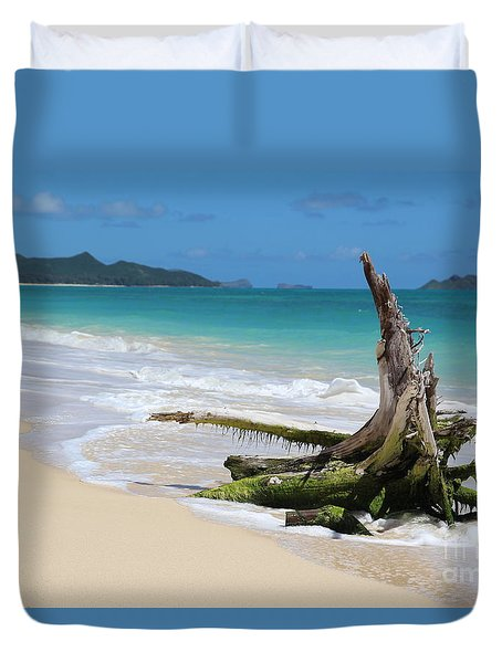 Beach In Hawaii Duvet Cover by Anthony Jones