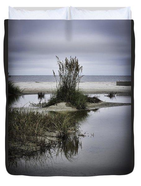 Beach Island Duvet Cover by Judy Wolinsky