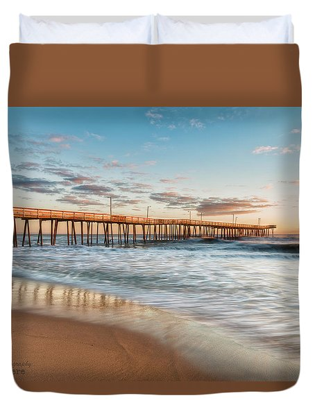 Duvet Cover featuring the photograph Beach Life by Russell Pugh