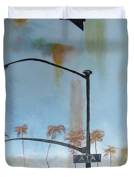 Beach Lights Duvet Cover