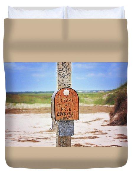 Beach Mail Duvet Cover