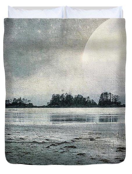 Beach Moon Duvet Cover